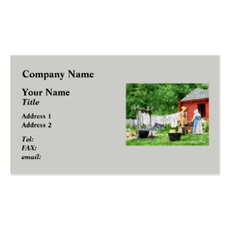 Neighbors Gossiping on Washday Pack Of Standard Business Cards