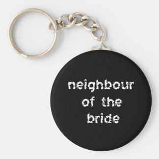 Neighbour of the Bride Key Ring