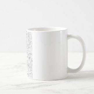 Neighbours doodle coffee mug