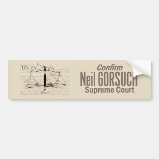 Neil GORSUCH Supreme Court Bumper Sticker