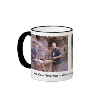 Neil Hand Cooking in the Grand Canyon Mugs