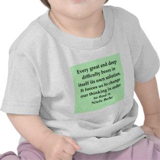 neils bohr quotation tee shirt