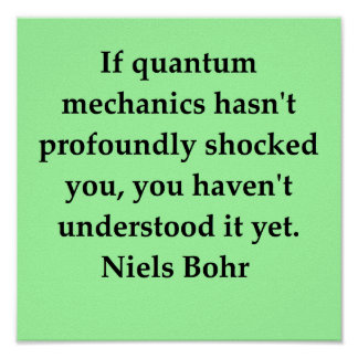 neils bohr quote poster