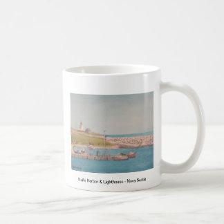 Neil's Harbor & Lighthouse - Nova Scotia Basic White Mug