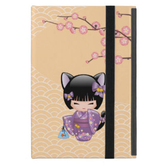 Neko Kokeshi Doll - Cat Ears Geisha Girl Cover For iPad Mini
