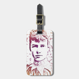 Nellie Bly Pop Art Portrait Luggage Tag