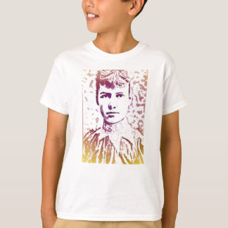 Nellie Bly Pop Art Portrait T-Shirt