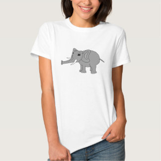 """""""Nellie"""" the elephant (black and white) T-shirt"""