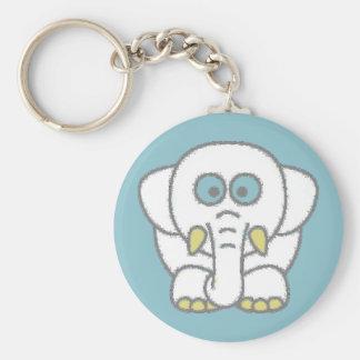 Nellie the Elephant Basic Round Button Key Ring