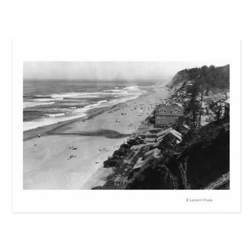 Nelscott, Oregon Beach Scene Waterfront Postcard