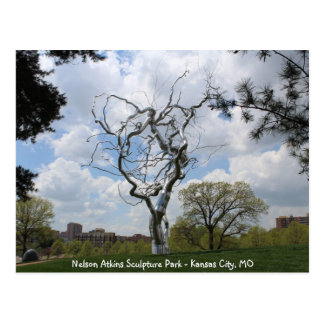 Nelson Atkins Sculpture Park Metal Tree # 1 Postcard