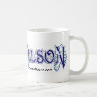 NELSON classic white mug