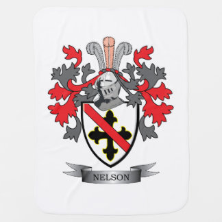 Nelson Coat of Arms Baby Blanket