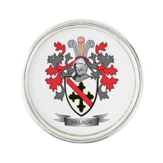 Nelson Coat of Arms Lapel Pin
