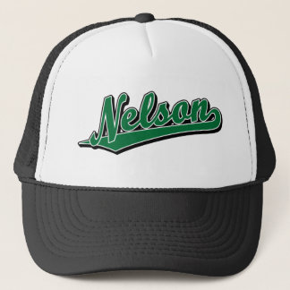 Nelson in Green Trucker Hat