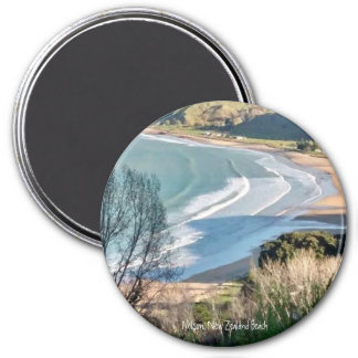 Nelson, New Zealand Beach-3 Inch Round Magnet