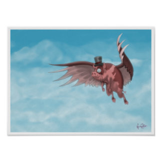 Nelson the Flying Pig Poster
