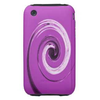Nelson Twirl Purple Tough iPhone 3 Cover