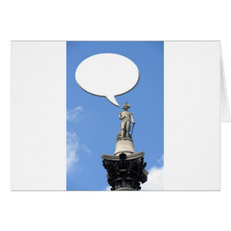 Nelson's Column speech bubble with space for text Card