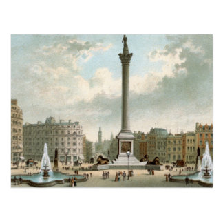 Nelson's Column, Trafalgar Square, London Postcard