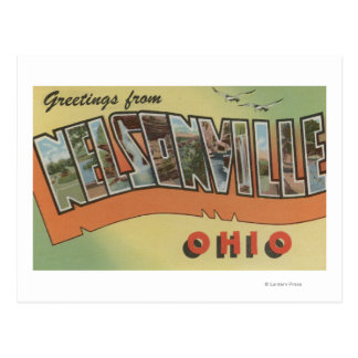 Nelsonville, Ohio - Large Letter Scenes Postcard