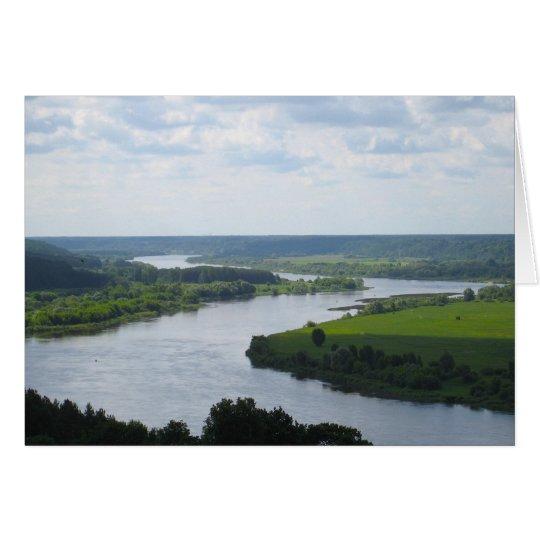 Nemunas River at Vilkija, LITHUANIA Card