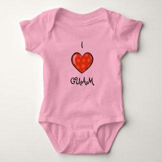 Nene Girl: I LOVE GUAM Baby Bodysuit