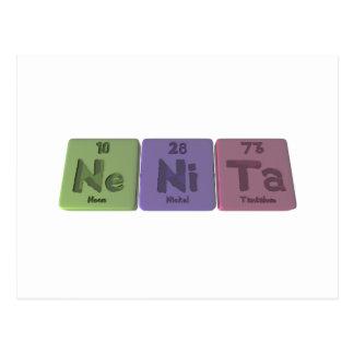 Nenita as Neon Nickel Tantalum Postcard
