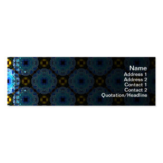 Neo Flower Pattern Small Inverted Pack Of Skinny Business Cards