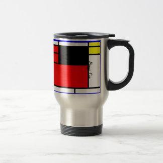Neo-plasticism Mondrian style Travel Mug