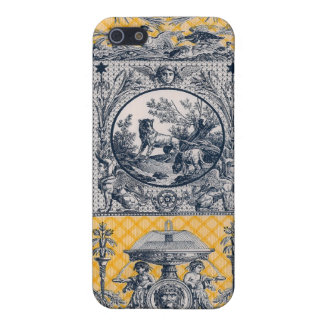 Neoclassical French Country Toile Blue & Yellow Case For iPhone 5/5S
