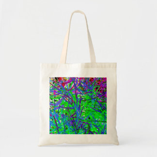 Neon Abstract Budget Tote Bag