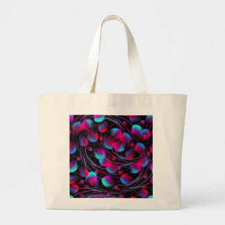 Neon Abstract Hot Pink Turquoise Black Modern Tote Bags