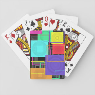 Neon Abstract Poker Deck