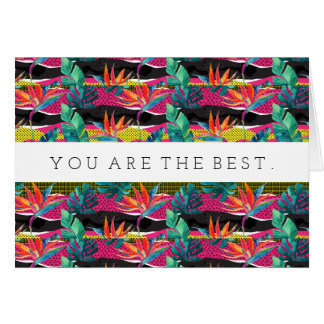 Neon Abstract Tropical Texture Pattern Card