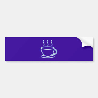 Neon advertisement neon sign coffee cup coffee cup bumper sticker