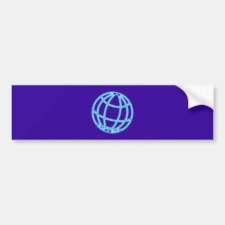 Neon advertisement neon sign globe globe bumper sticker