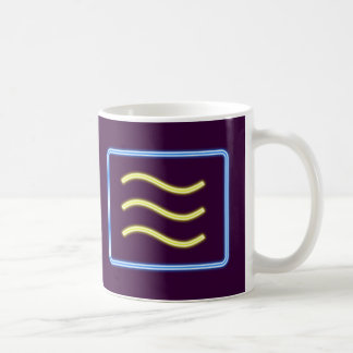 Neon advertisement neon sign microwave microwave coffee mug