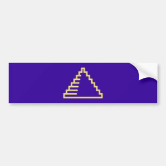 Neon advertisement neon sign pyramid pyramid bumper sticker