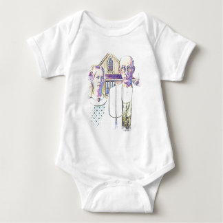 Neon American Gothic With a Twist Baby Bodysuit