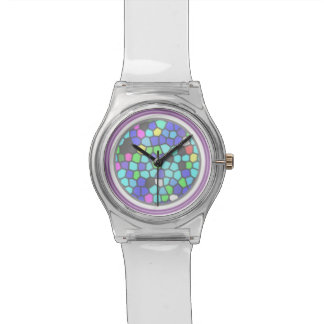 Neon and Stained Glass Watch