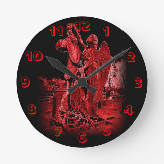 Neon Angel Wall Clock
