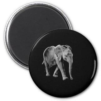 Neon Baby Elephant Magnet