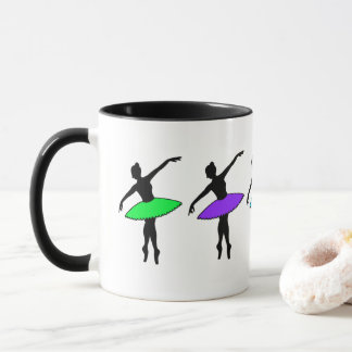 Neon Ballerinas Ballet Pointe Dance Teacher Tutu Mug