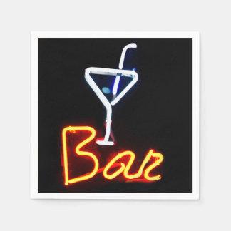 Neon Bar Sign Disposable Napkins