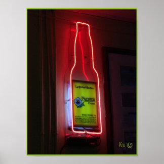 """""""Neon Beer Sign"""" Poster"""