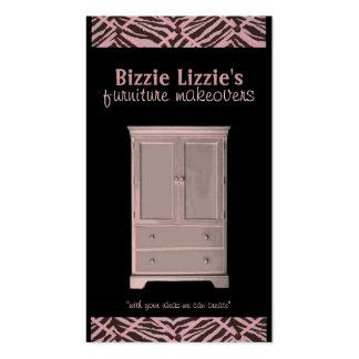 Neon Bizzie Lizzie Furniture Business Card