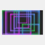 Neon blocks sticker sheet