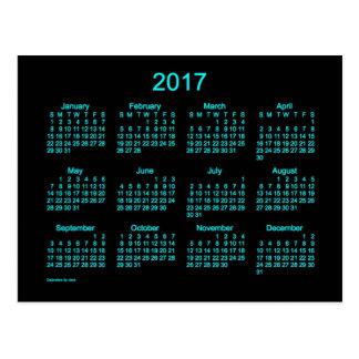 Neon Blue 2017 Mini Calendar by Janz Postcard
