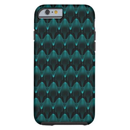 Neon Blue Alien Head Tough iPhone 6 Case